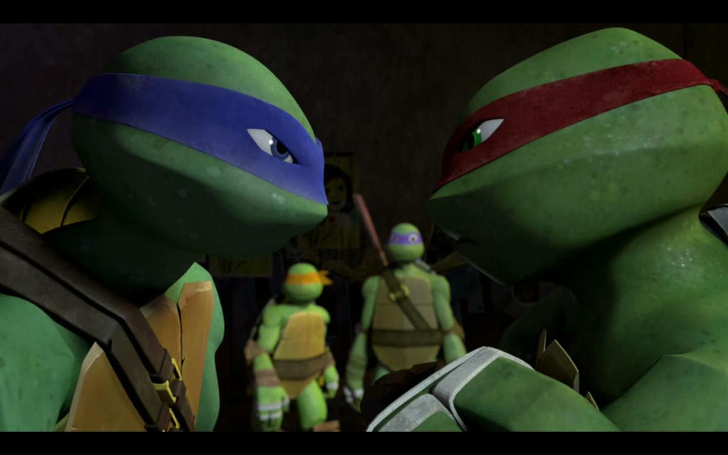 Tmnt 2012 Leo And Raph By Giorj Theblackninja On Deviantart