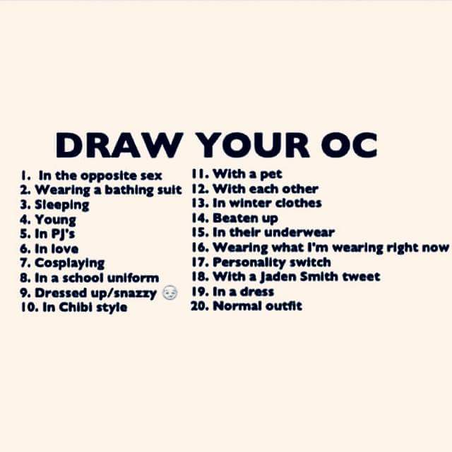 Draw Your Oc Challenge By Giorj Theblackninja On Deviantart