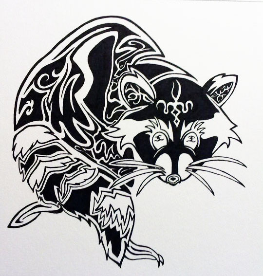 Chinese Art - Racoon by yeeqin88 on DeviantArt