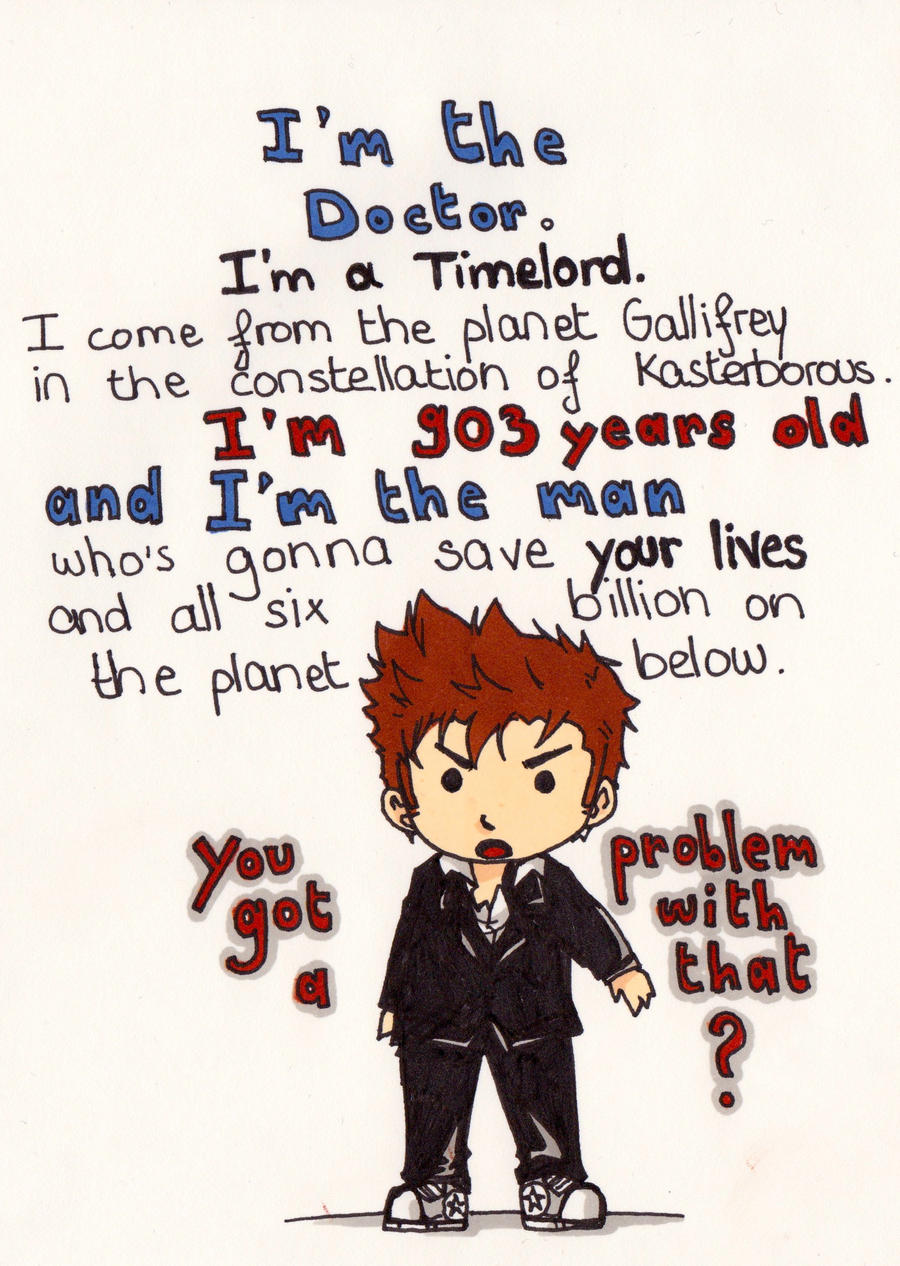 Art Challenge 23: Doctor Who (something epic) by WhatItMeansToBeHuman