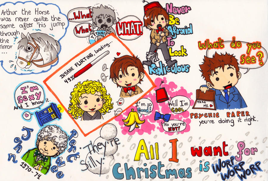 Doctor Who insane Doodle by WhatItMeansToBeHuman