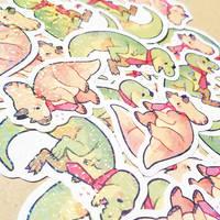tie-rannosaurus rex and tie-ceratops stickers