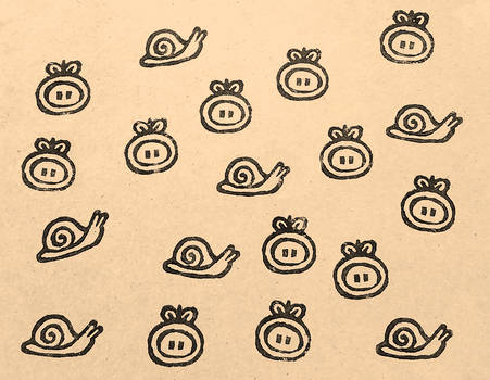 tom and snail stamps