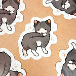 munch cat stickers