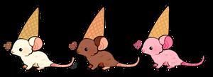 neapolitan mice cream cones