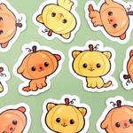 pupkin and pumpkitty stickers