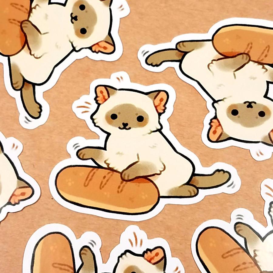 bread cat stickers