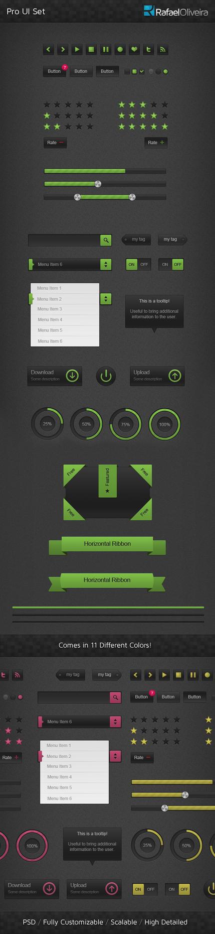 Pro UI Set by Rafael-Olivra