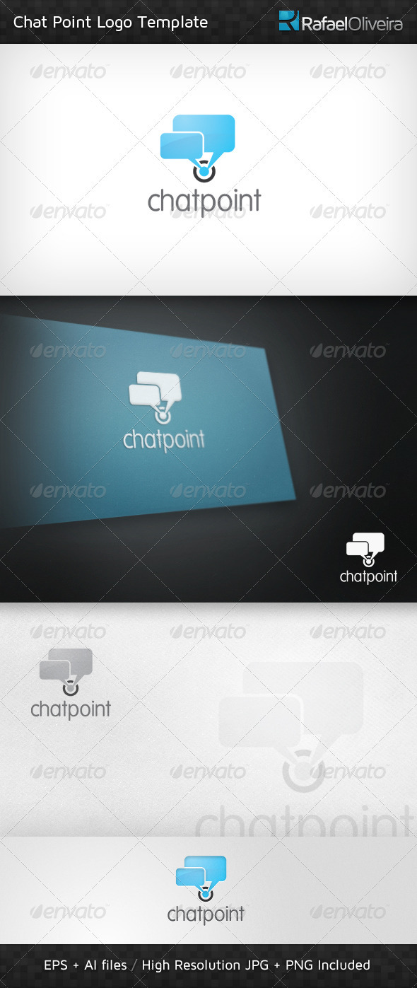 Chat Point Logo Template by Rafael-Olivra