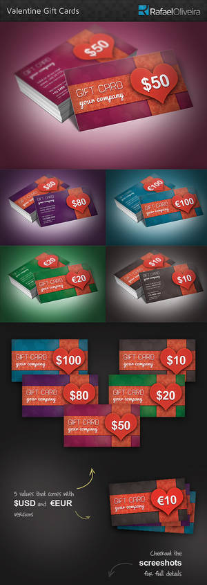 Beauty and Colorful Gift Cards