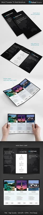 World Traveler Tri Fold Brochure