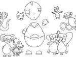 Animal Caricature LineArt