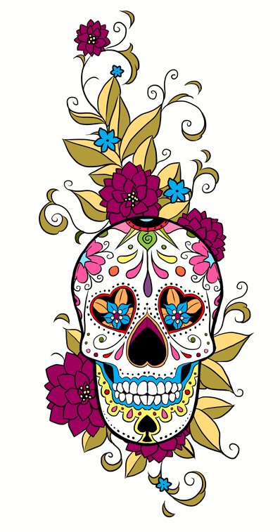 tattoo loves on pinterest sugar skull day of the dead and sugar skull tattoos. Black Bedroom Furniture Sets. Home Design Ideas