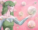 Glass Girl Commission - Terrarium Bubbles