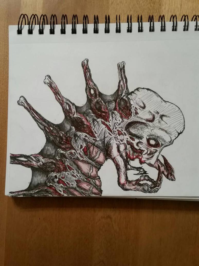 Necromorph concept art by Samelcamel