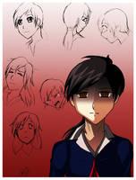 alessa anime sketch by WinterSpec