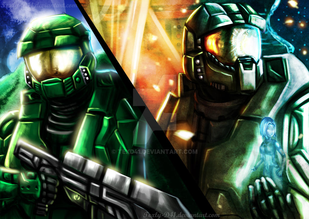 Master Chief Tribute by WinterSpectrum