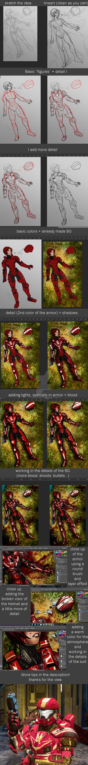 Spartan IV armor progress by WinterSpectrum