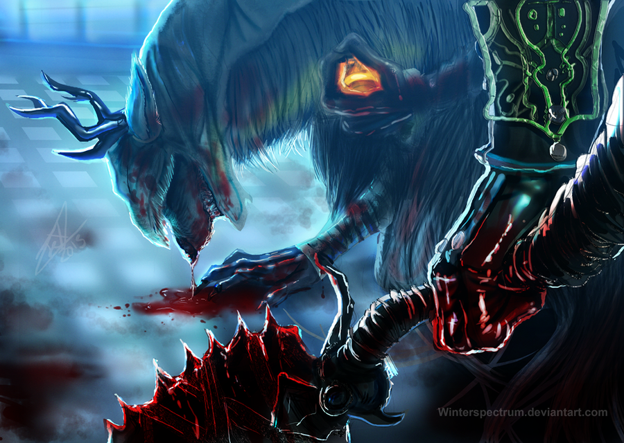 Bloodborne- No Mercy for a Beast by WinterSpectrum