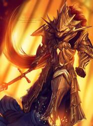 Dark souls- Dragonslayer Ornstein by WinterSpec