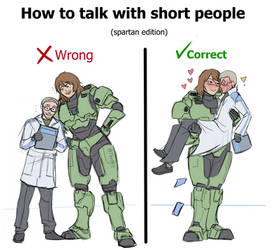 How to talk with short people -spartan edition-