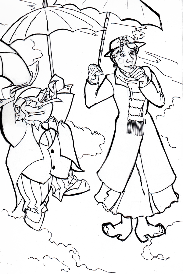 The Penguin and Mary Poppins by VanHinck on DeviantArt