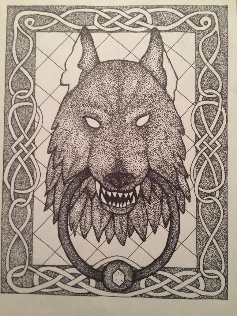 Wolf Door Knocker by Banana-jellies ... & Wolf Door Knocker by Banana-jellies on DeviantArt
