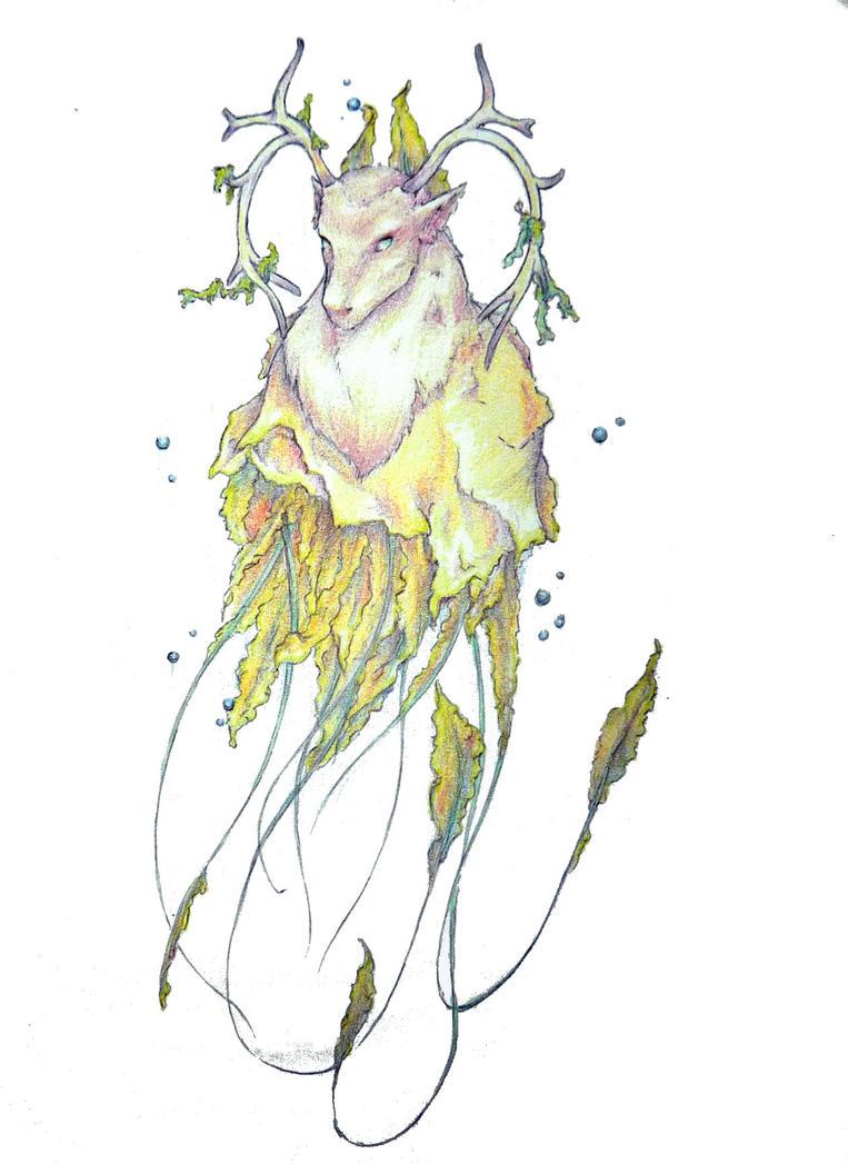 The jellyfish deer. by Fliegevogel