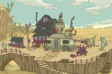 Cats House Visual Novel BG by ProNice