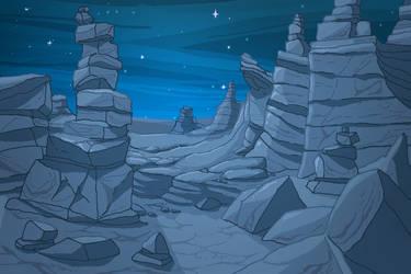 Stone Canyon Night by ProNice
