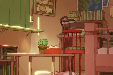 Cat Bedroom3 morning empty by ProNice
