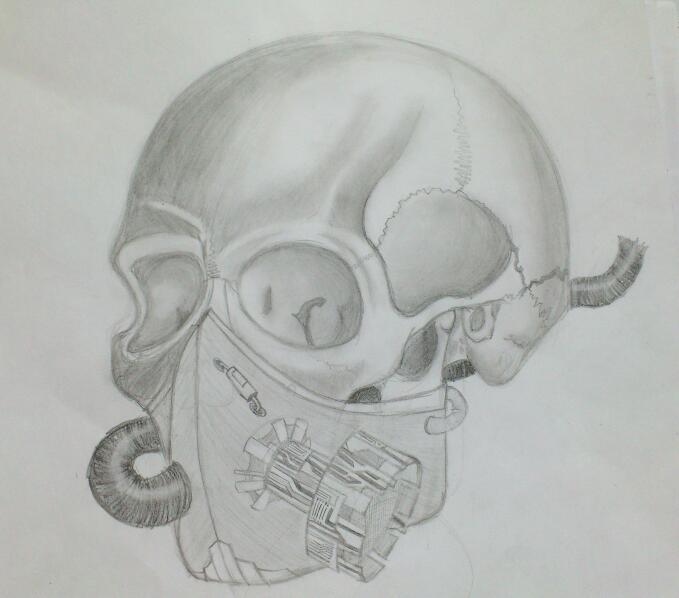 gas mask skull by huntertheshadow on deviantart. Black Bedroom Furniture Sets. Home Design Ideas