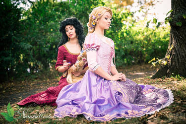 Mother Gothel and Rapunzel