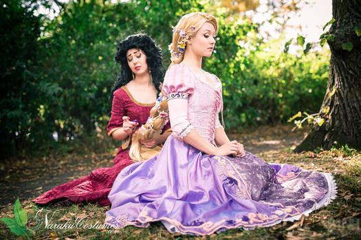 Mother Gothel and Rapunzel