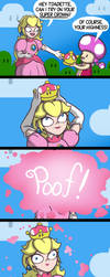 Peach tries on the Super Crown by TheCittiverse