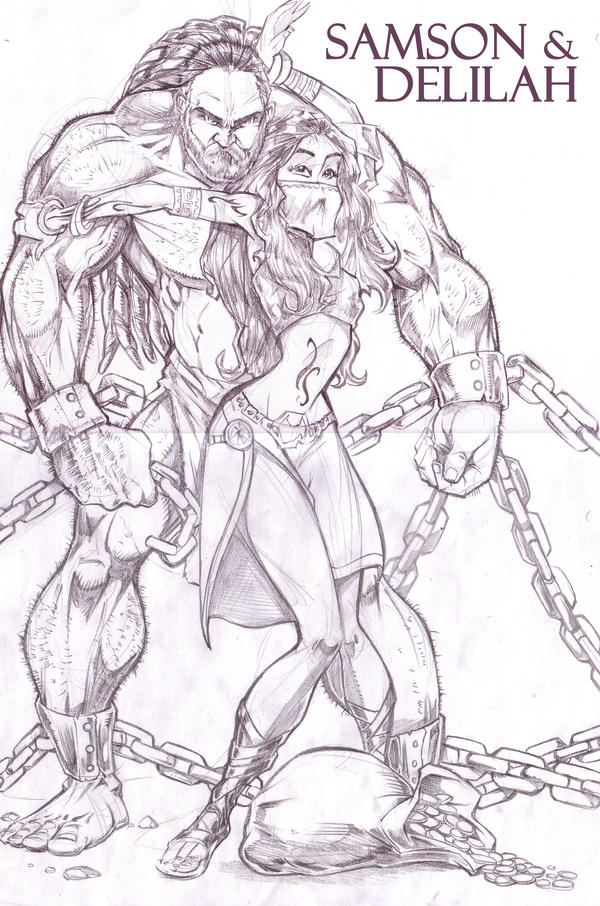 Samson and Delilah by RtisticMayhem on DeviantArt