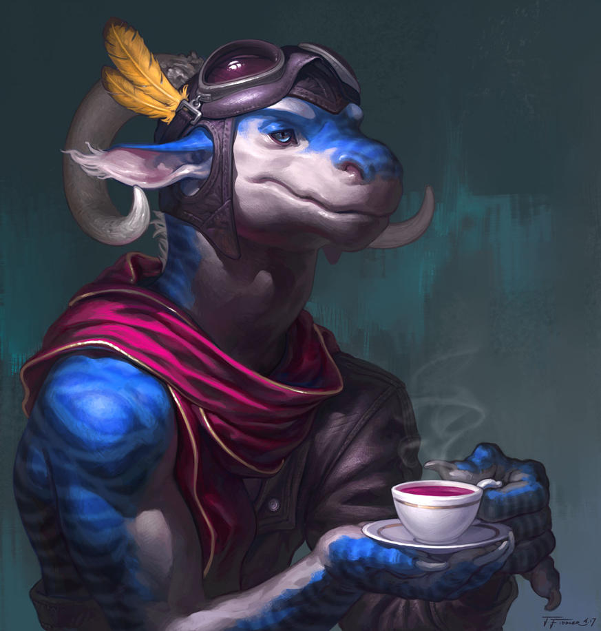 Tea time by TFiddlerArt