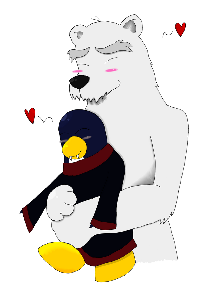 Herbert and Hiroto (Polar Bear and Penguin) COLOR by VampireQueenEffeffia