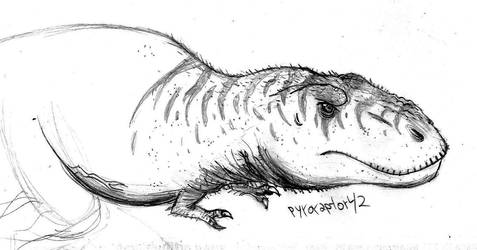 Dinovember day 1 - T-rex sketch by Pyroraptor42