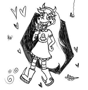 Star Butterfly Sketch 1