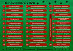 Dinoviembre Calendario 2020