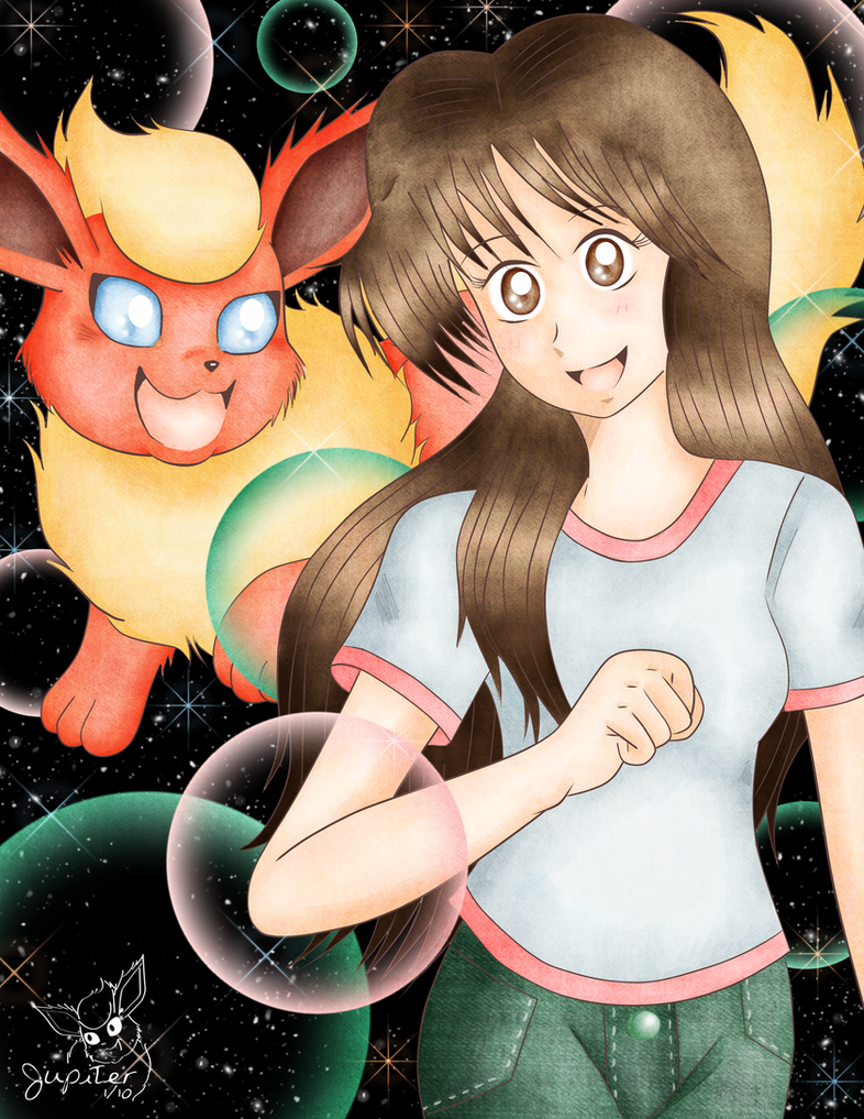 Jupiter and Flareon by Flareon-Jupiter