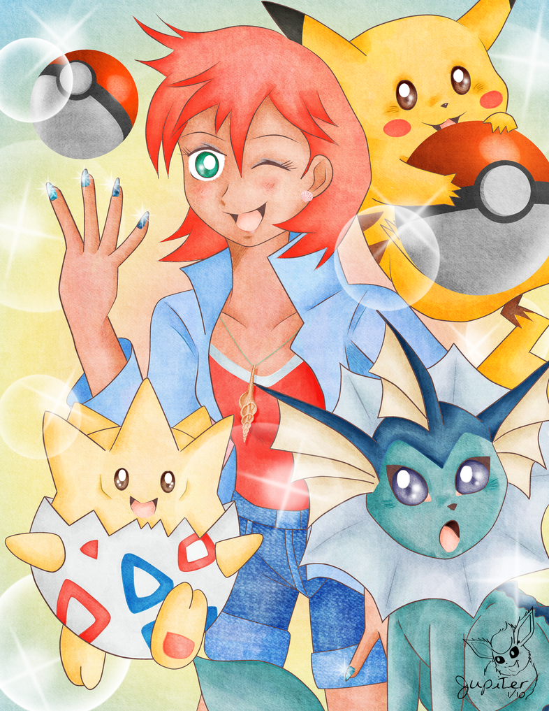 Misty and Her Pokemon by Flareon-Jupiter on DeviantArt