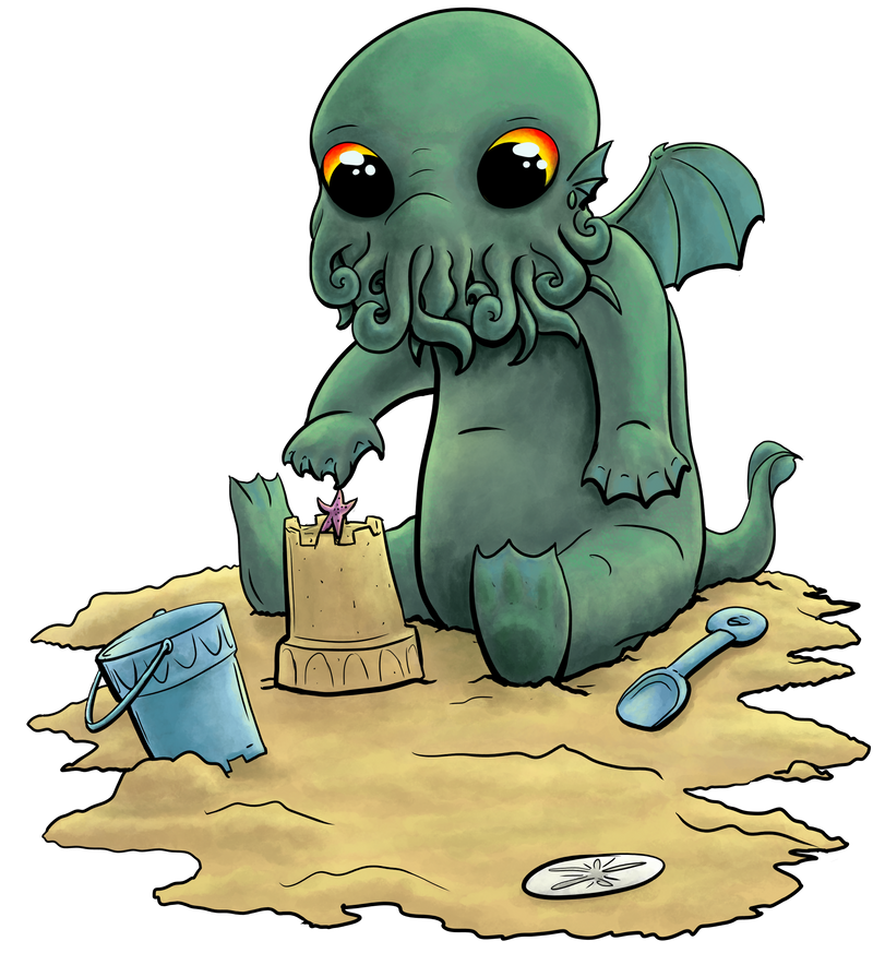 Beach Baby Cthulhu by Phatmouse09