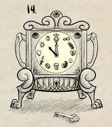 Inktober 14 Clock