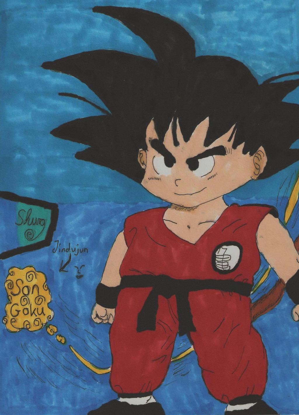 Son-Goku in color by ShuraChan