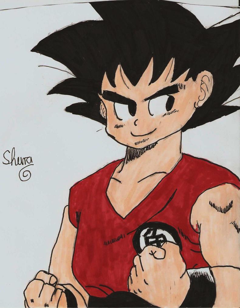 Goku is combative by ShuraChan
