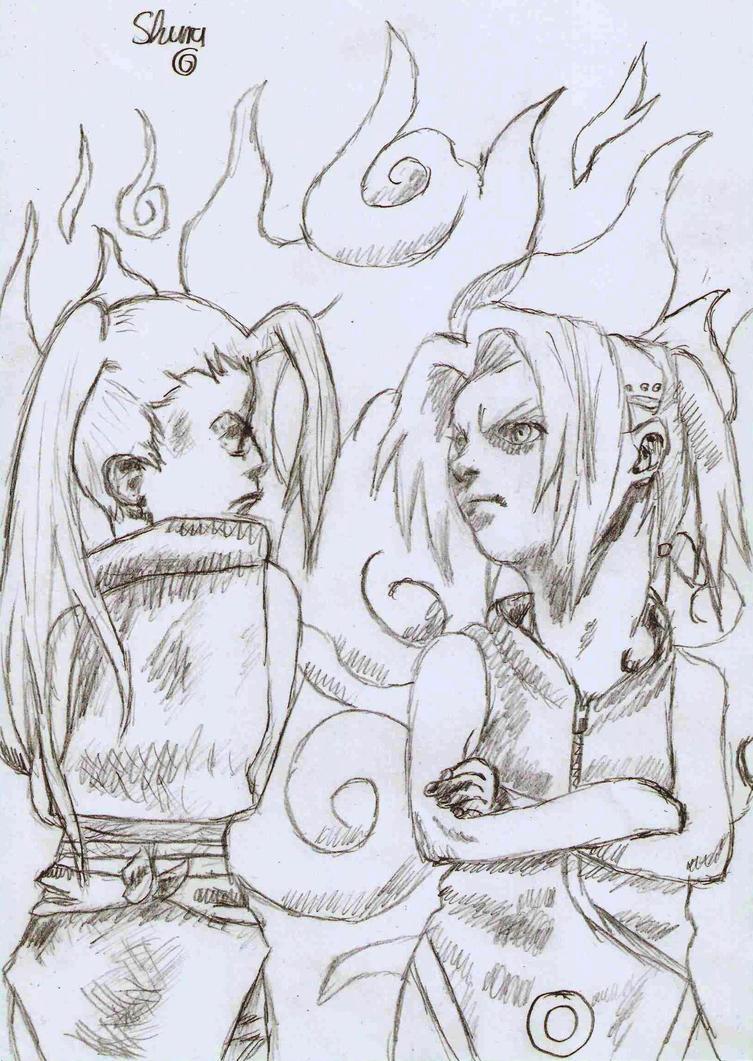 Ino and Sakura by ShuraChan