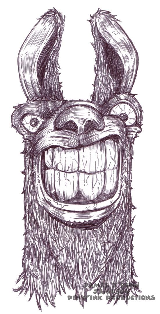 Angry Llama by JamusDu on DeviantArt