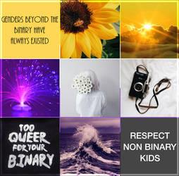 [LGBT Moodboards] Non-Binary